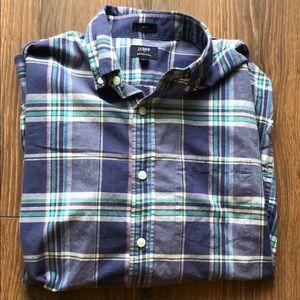 J Crew Summer Plaid Burton Down Shirt Medium Slim